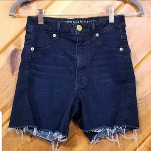 American Eagle Outfitters Jean Shorts Cut Off Dark